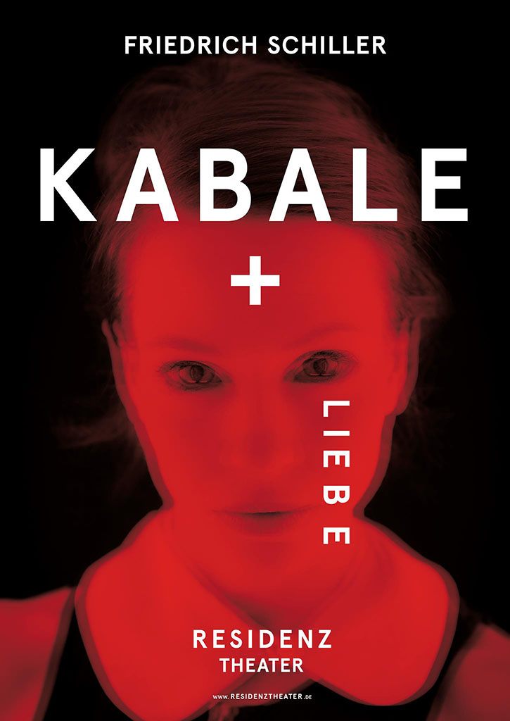 Plakat KABALE+LIEBE fr das RESIDENZTHEATER