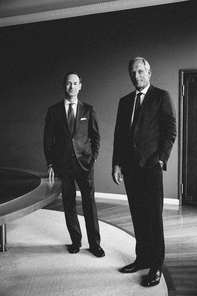 Oliver Bäte, Michael Diekmann, neuer und ehemaliger CEO, Allianz SE