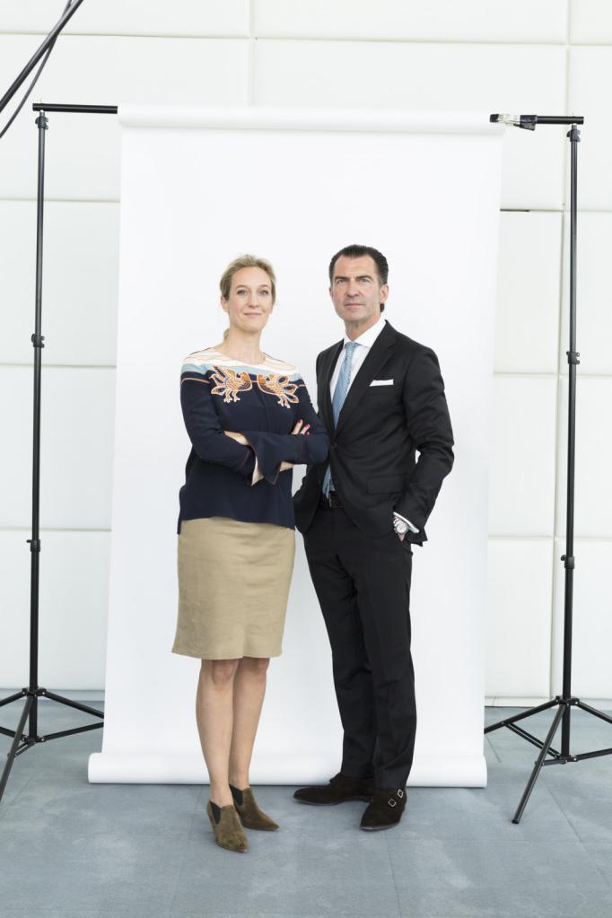 Sabine Eckhardt, Vorstand Pro7Sat1 und Philipp Welte, Vorstand Burda Media